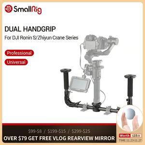 Image 1 - SmallRig podwójny uchwyt z 25mm zacisk pręta szyny Nato dla DJI Ronin S/Zhiyun Crane Series kardana ręczna 2210