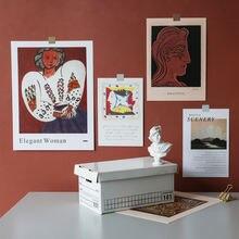 Ins Скандинавская Ретро абстрактная живопись декоративная открытка