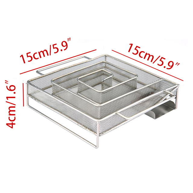 Cold Smoke Generator For BBQ Grill Wood Chip Smoking Box Wood Dust Hot And Cold Smoking Salmon Meat Cooking Stainless Bbq Tools