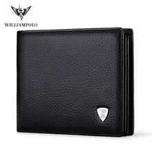 وصل حديثًا محفظة رجالية صغيرة غير رسمية ماركة ويليابولو 100% من الجلد الأصلي اشتري واحدًا واحصل على قطعة واحدة فضفاضة لحمل السيارة طراز PL213