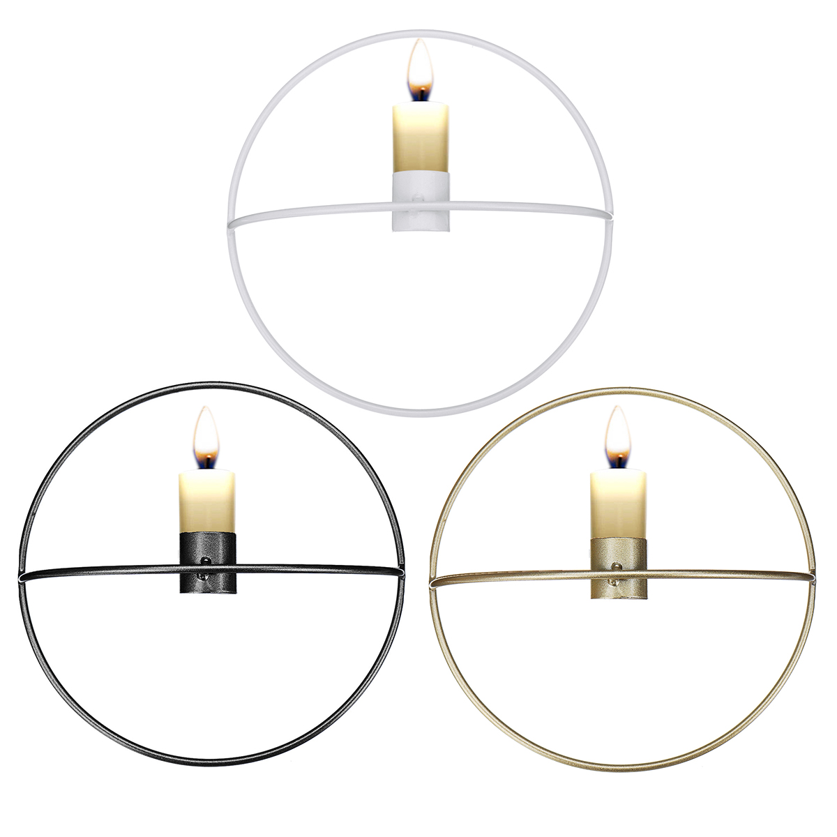 3D Geometrics Wall Hanging Candlestick For Home Decoration