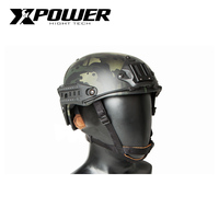 XPOWER Helmet Tactical Half Covered Airsoft Military Paintball Accessories Camouflage ABS