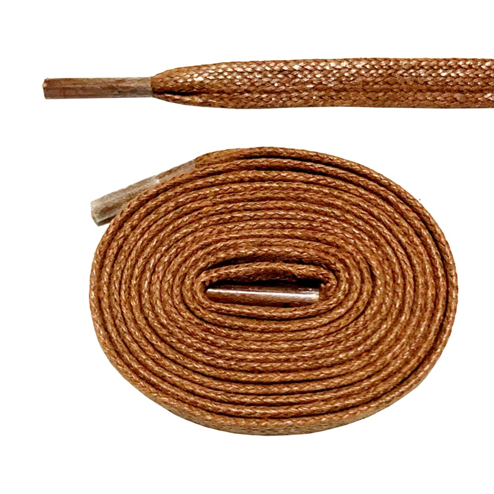 """Tan 80cm Round Wax Waxed Cotton Shoe Work Boot Cord Dress Laces 32/"""" 3//4 Eyelets"""
