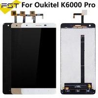 Tela lcd para oukitel k6000  display de reposição para digitalizador  tela preta/branca/dourada 5.5 '  peças de reposição + ferramentas