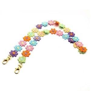 2020 Милая разноцветная цепочка для маски с цветами ручной работы для женщин и девочек, маска для шеи, аксессуары, эффектные цепочки для очков