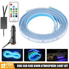Lampe LED néon décorative, LED bandes, Flexible, pour voiture, pour atmosphère, porte latérale de voiture, Kit de lumière bienvenue, nouvelle collection
