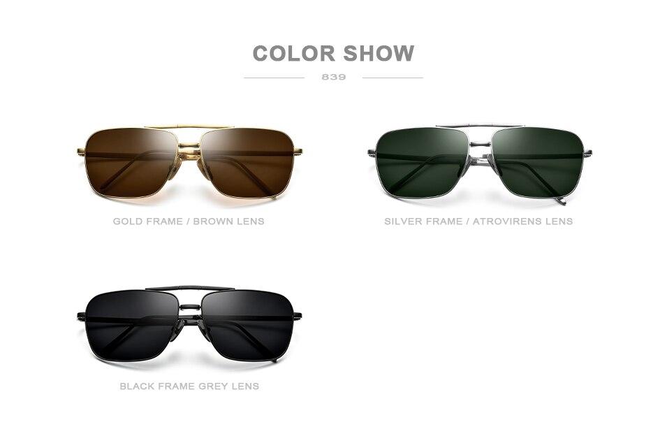 FONEX Polarizada Óculos De Sol Dos Homens