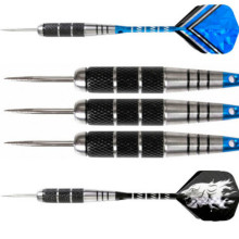 3PCS 22g grams of stainless steel full metal carved aluminum alloy darts needle drawing 5 line rod flying