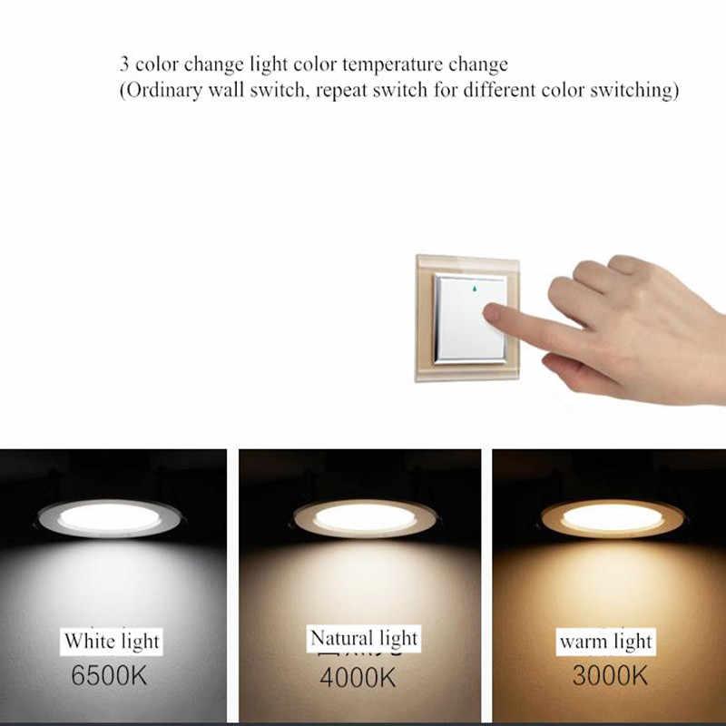 Поверхностный монтаж 3 Вт 7W12W трехцветные потолочные светильники с затемнением ультра тонкие без водителя cob led AC220V Настенные светильники Освещение