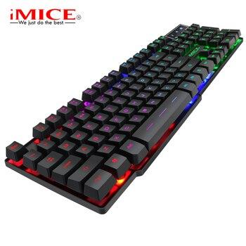 цена на iMice Wired Gaming led Keyboard 104 Keys Mechanical Keyboard RGB Backlit Keyboard for PC Gamer Teclado Gamer Mecanico Clavier