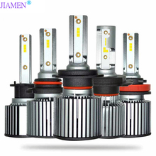 цена на JIAMEN 2PCS H4 Led H7 LED H1 H11 H9 H8 9005 HB3 H10 9006 HB4 9012 6000K 60W 12V/24V Car Light Auto Headlight with Philips Chips
