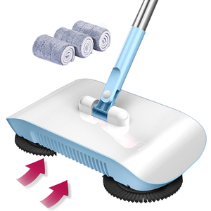 Image 2 - Factory direct hand push sweeper household broom dustpan mop all in one gift mop sweeper without dead corner cleaning mop