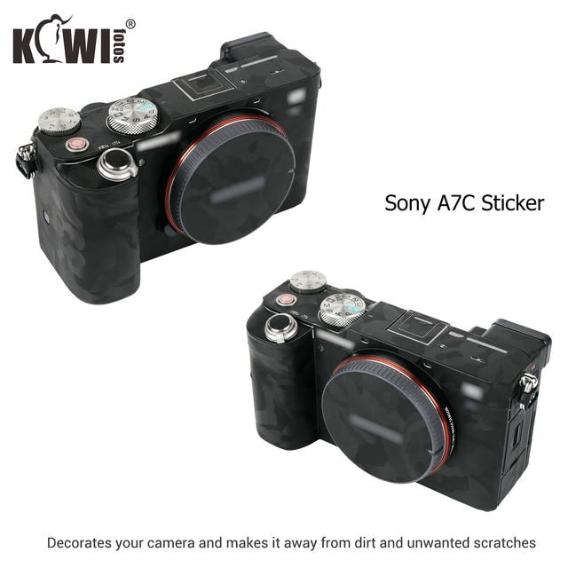 Cámara cuerpo etiqueta engomada para Sony A7C cubierta de la piel de la Anti Protector de arañazos de la piel Kit Anti deslizante Cámara accesorios de decoración