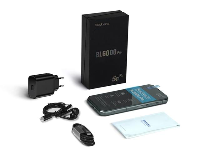 Blackview BL6000 Pro 5G Smartphone IP68 Waterproof 48MP Triple Camera 8GB RAM 256GB ROM 6.36 Inch Global Version Mobile Phones 6