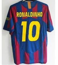 2005 2006 camisa masculina retro 05 06 ronaldinho t-shirts