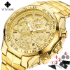 WWOOR Men's Big Dial Luxury Chronograph Calendar Male Quartz Watches 2