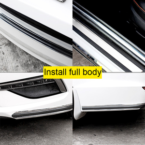 Image 5 - Auto Bumper Stripรถสติกเกอร์คาร์บอนไฟเบอร์ฟิล์มGlossyห่อฟิล์มAnti Collisionป้องกันประตูรถจัดแต่งทรงผมอุปกรณ์เสริม
