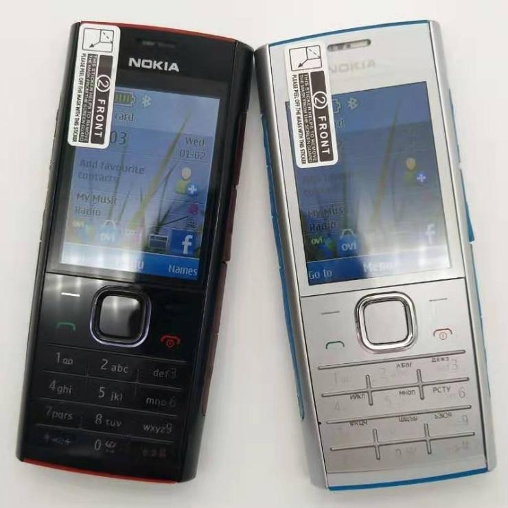100% Original Unlokced Nokia X2 X2-00 Bluetooth FM JAVA 5MP Unlocked Mobile Phone With English/Russia/Hebrew/Arabic Keyboard