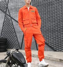 Men's Fashion One-piece jumpsuits Men's Trend Hip-hop Loose Overalls pants Korean Casual Tide Brand Overalls jumpsuits