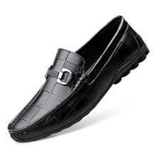 2020 Newest Men Shoes Leather Genuine Casual Loafers Men Moccasins Shoes Slip-on Soft Flats Footwear Lightweight Driving Shoes soft women shoes flats moccasins slip on loafers genuine leather ballet shoes fashion casual ladies shoes footwear