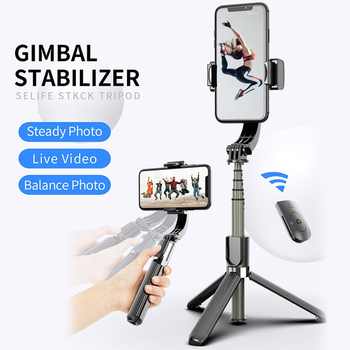 L08 Anti-Shake Selfie Stick Bluetooth Remote Control Tripod 360° Rotate Smart Phone Selfie Holder Vlog Live Show For IOS Android