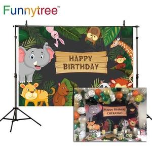 Image 2 - Funnytree compleanno foto sfondo Studio fotografico Safari Party giungla animale foresta capretto bambino sfondo photzone fotofono