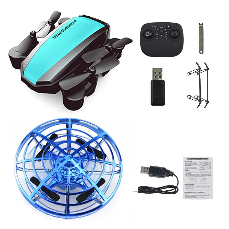 Mini UFO Drone Quadcopter Aircraft Toys for Kids Anti-collision Flying Ball Small Pocket Dron Gift for Child