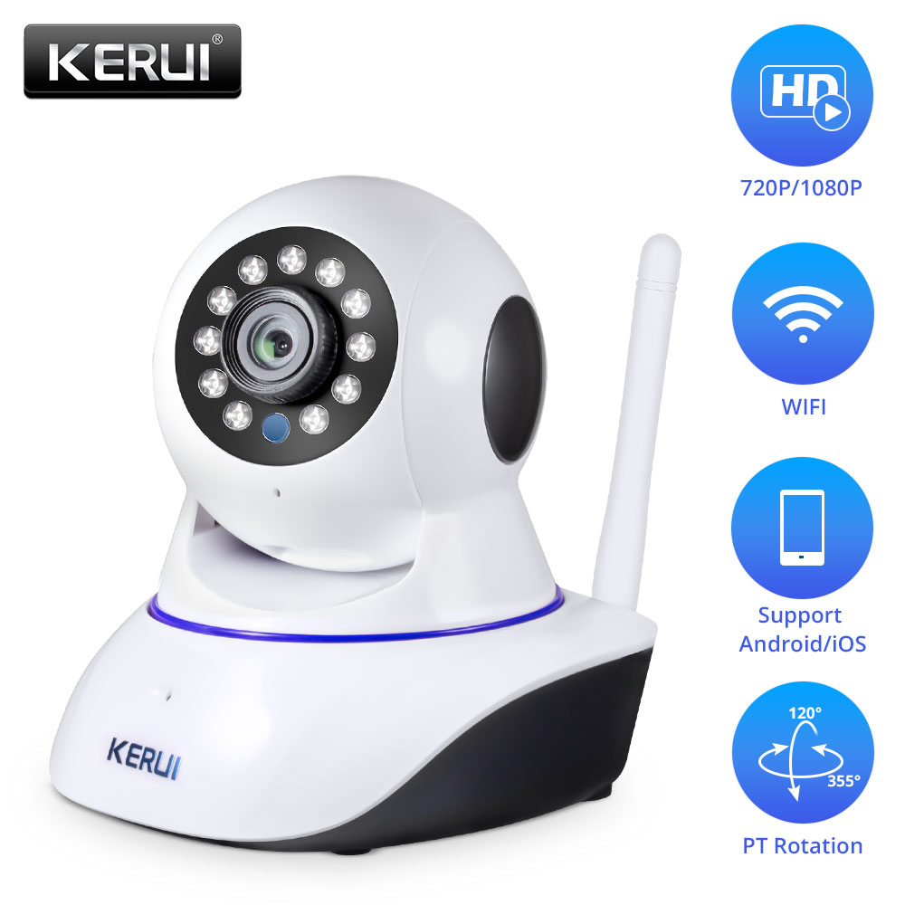 KERUI 720P 1080P HD Indoor Wireless Wifi home security surveillance ip camera with night vision infrared Network Internet camera