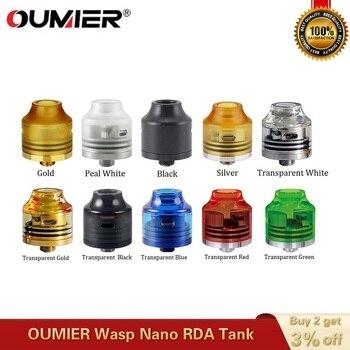 OUMIER Wasp – atomiseur reconstructible Wasp Nano RDA, réservoir de 22mm, avec tête 510, Mod VS hallvape Drop Dead