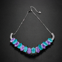 Newranos Pedra Fusion Stone Choker Necklace Multi color Crystal Necklace Party choker for Women Fashion Jewelry NFX0022844