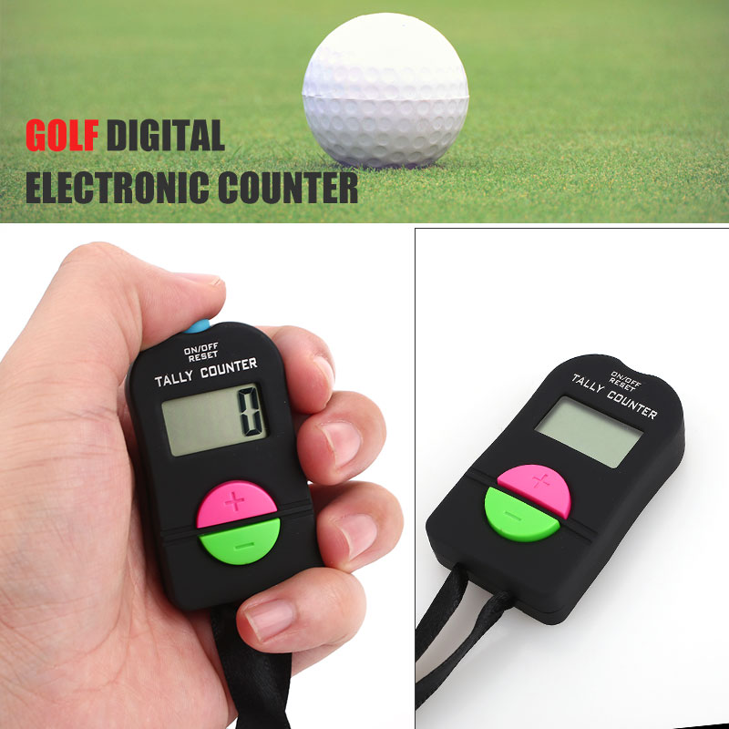 Black Golf Counter Temple LCD Screen Durable Buddha Counter Digital Calculation Outdoors ABS Chanting Counter Digits Hand Held