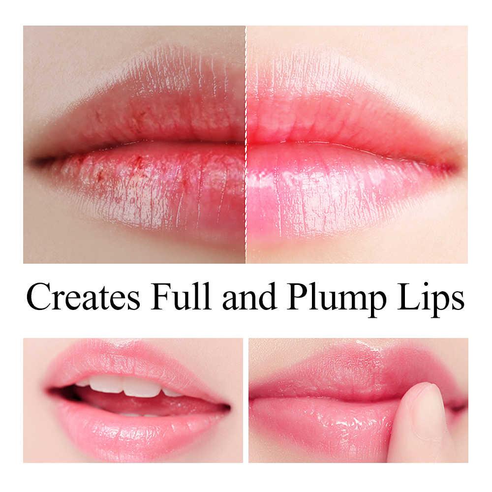 Lanbena ácido hialurónico bálsamo labial plumper hidratante reduzir linhas finas aliviar a secura proteção duradoura cuidados com os lábios