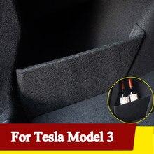 Panneau organisateur de stockage latéral de coffre de voiture pour Tesla modèle 3 accessoires de planche de séparation de coffre de déflecteur de stockage de boîte de queue de voiture