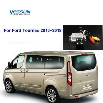 Cámara de visión trasera de coche Yessun HD CCD para Ford Fusion Transit, cámara trasera de visión nocturna personalizada 2012 ~ 2018 Ford Tourneo 2013 ~ 2018 CCD