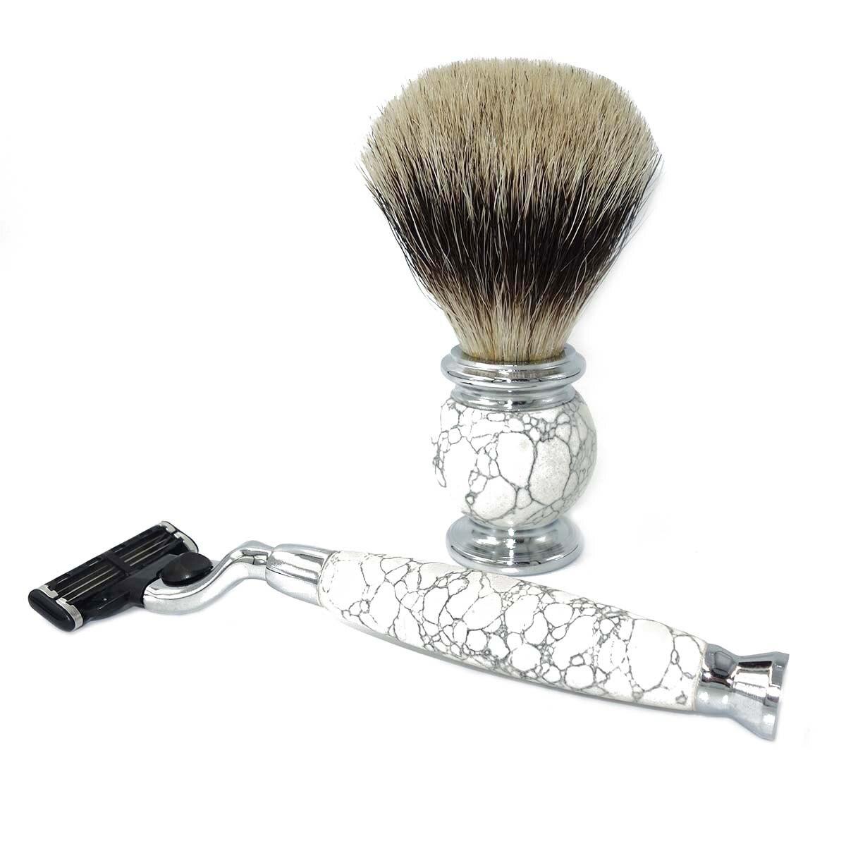 para homens molhado barbear com natural branco