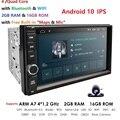 Universal 2 din Android 10 Quad Core Car GPS Wifi Radio BT 2GB RAM 16GB ROM 64GB SD 4G SIM Network Steering wheel RDS SWC CAM PC