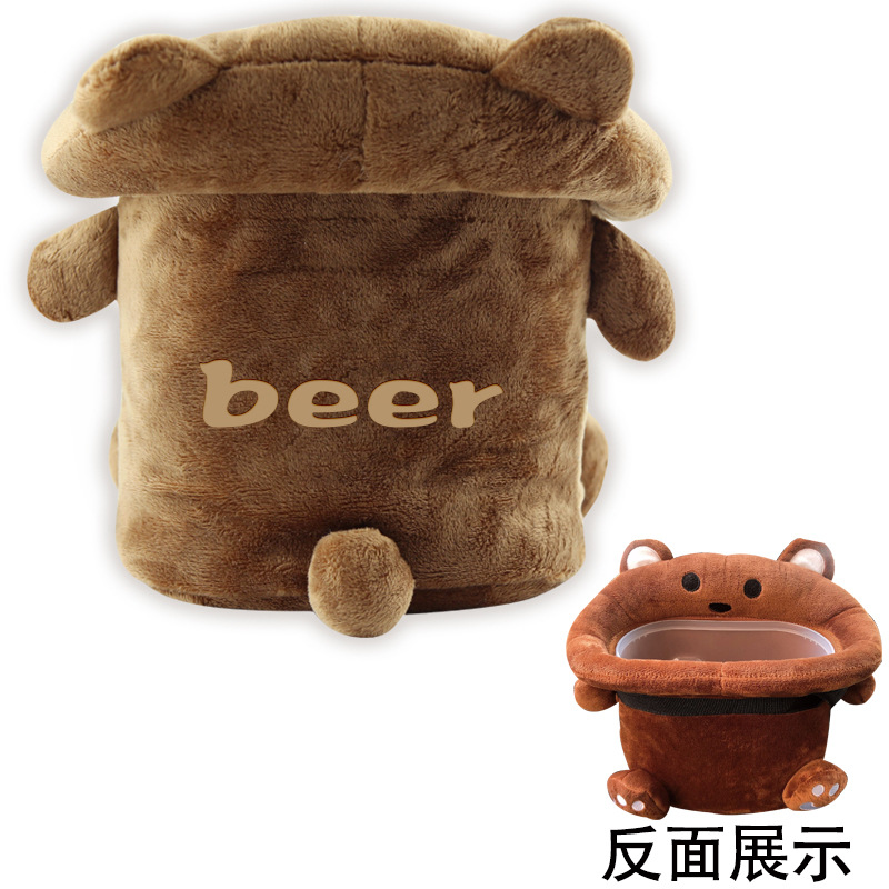 Car Trash Car For Creative Cartoon Rear Mounted Debris Storage Bag Interior Trim Tissue Box For Car