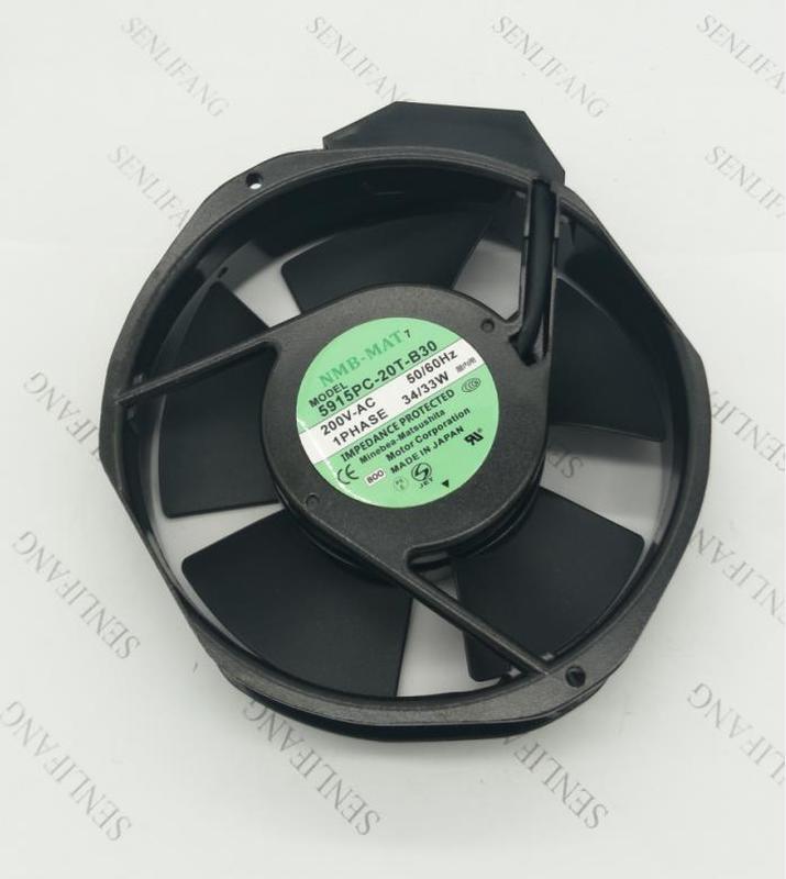 Free Shipping 5915PC-20T-B30 B00 AC 200V 34W 172X150X31mm Server Cooler Fan