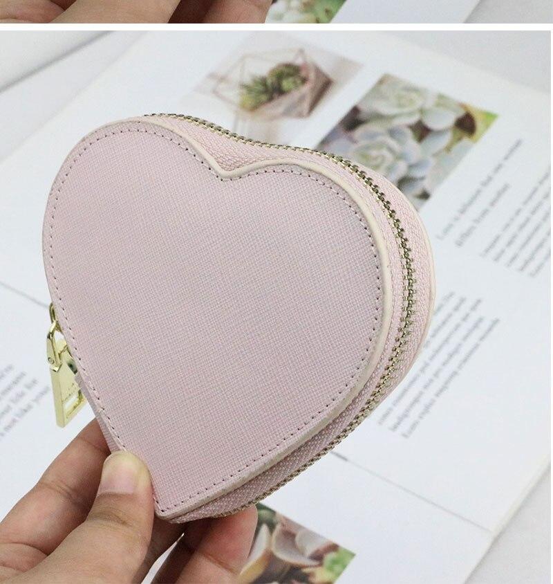 coração das senhoras bolsa de moda mini titular do cartão