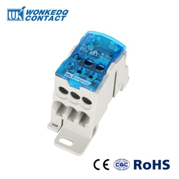 UKK125A Din Rail Terminal Blocks One in several out Power Distribution Box Universal Electric Wire Connector Junction Box 2 in 8 out terminal blocks din rail and panel mounting power distribution module board spring terminal block
