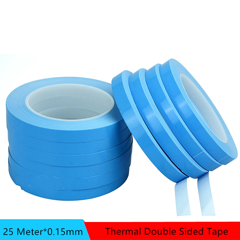 Thermal Tape 25M*0.15mm Insulating Heat Dissipation Tape Double Sided Thermally Conductive Tape For Chip PCB LED Strip Heatsink