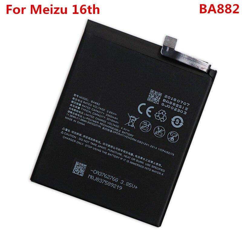16TH Original Battery For Meizu 16th BA882 3010mAh Replacement Li-ion Polymer Phone Battery Repair Parts