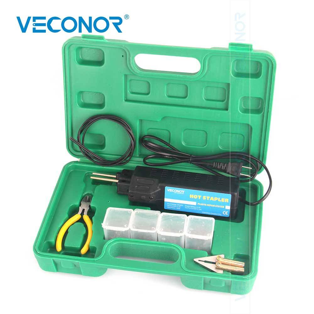 Professional Hot Stapler Plastic Repair System Welding Gun Bumper Fairing Auto Body Tool Plastic Welder Staple