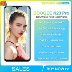 DOOGEE N20 Pro Quad Камера мобильных телефонов Helio P60 4400mAh 6 ГБ Оперативная память 128 Гб Встроенная память глобальная версия 6,3 дюймFHD + безрамочный экран ...