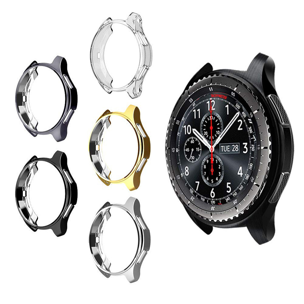 5PCS Ultra-Slim Electroplate Transparent TPU Case Cover For Samsung Gear S3 Frontier SM-R760 Smart watch Protector accessories