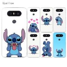 Uyellow Disneys Stitchs Soft Phone Case For LG G4 G5 G6 G7 G8 G8S V10 V20 V30 V30S V40 V50 Q6 Q7 Q8 Cover K8 K10 2018 2017 Coque