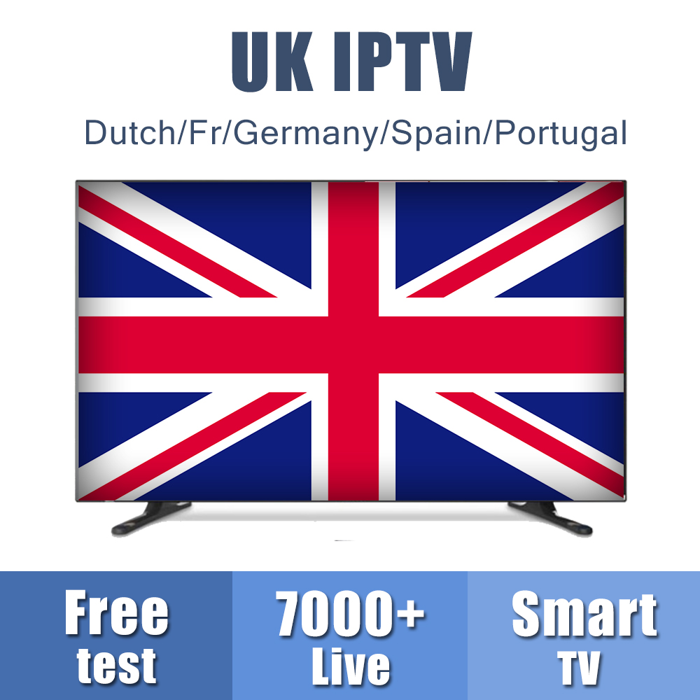 Europe UK IPTV Subscription For Android M3u8 Enigma2 Mag Box UK/Dutch/Fr/Germany/Spain Channels Free Test Smarters IPTV Code