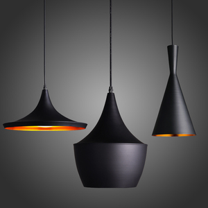 Image 1 - Modern E27 Musical Aluminum copper shade musical pendant lamp ABC(Tall,Fat and Wide) Beat Hanging Light,110V/220V/230V 3pcs/pack