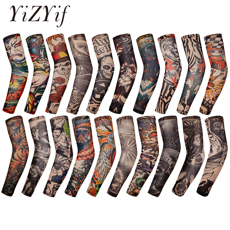 Tattoo Arm Sleeves Temporary Fake Slip On Tattoo Arm Stockings Sleeves Body Art Accessories Tattoo Sleeves Stockings Cosplay