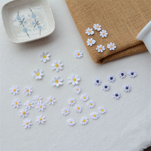 10pcs/lot Small Daisies flower Patch Embroidery Sticker Sew on Patches for clothing applique embroidery DIY Clothing Accessories(China)